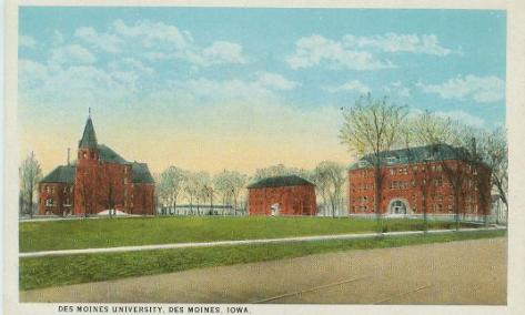 1924-DMU Campus Postcard