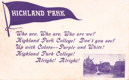 1908 Fight Song Postcard.