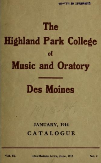 HPC Music & Oritory 1914