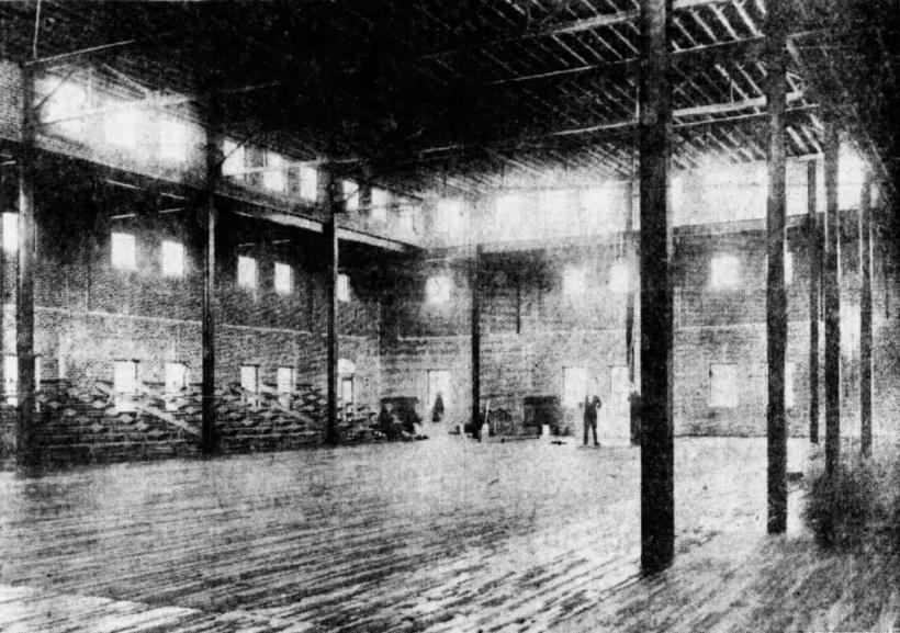 Inside gym 1927
