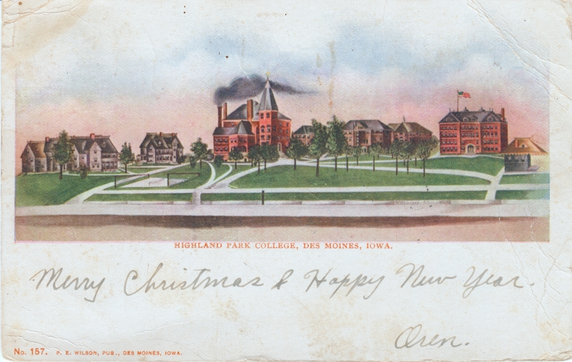 Highland Park College Postcard